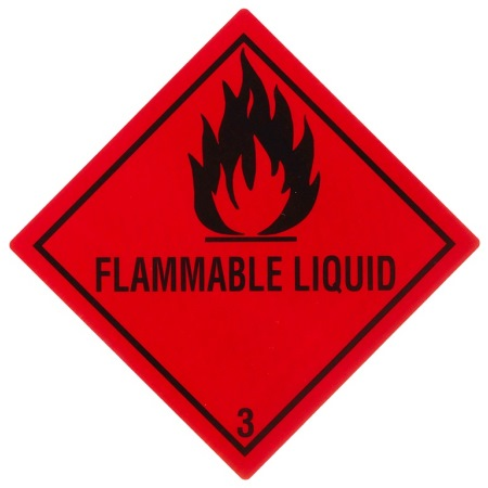 "Containerlabel Klasse 3 mit Text ""FLAMMABLE LIQUID"" @dr653"