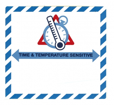 "Gefahrgutetikett ""Time & Temperature Sensitive"" @DR684"