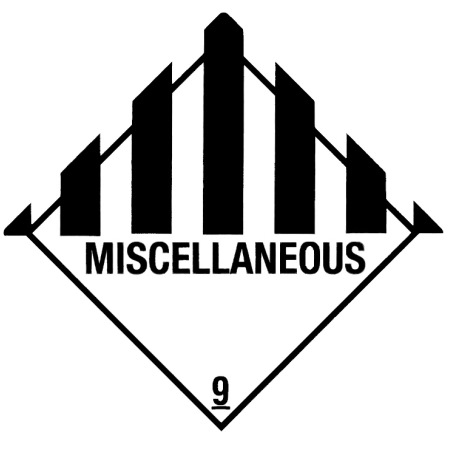 "Containerlabel Klasse 9 mit Text ""MISCELLANEOUS"" @dr664"