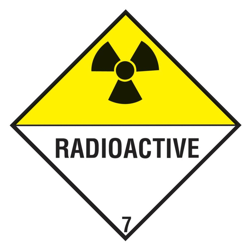 "Containerlabel Klasse 7 mit Text ""RADIOACTIVE"" @dr666"